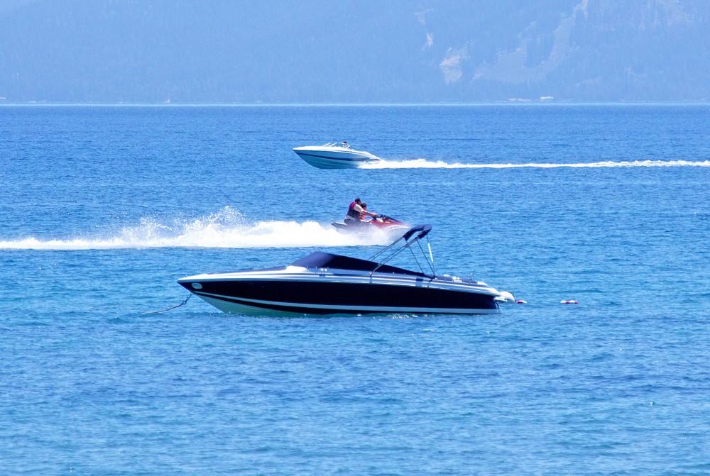 Luxury Boats In Sea