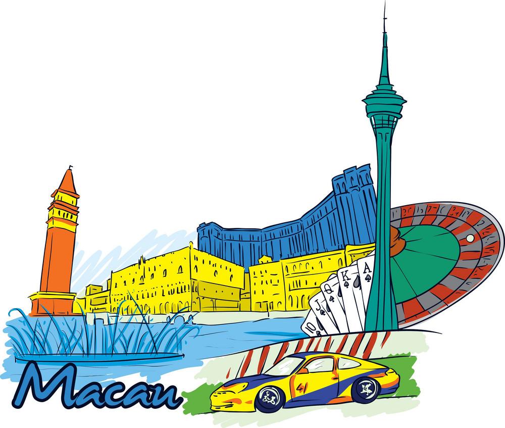 Macau Vector Doodle