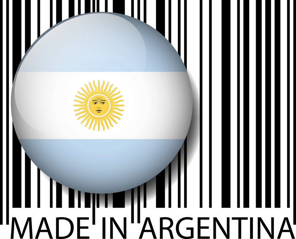 Made In Argentina Barcode. Vector Illustration