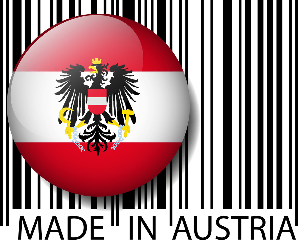 Made In Austria Barcode. Vector Illustration