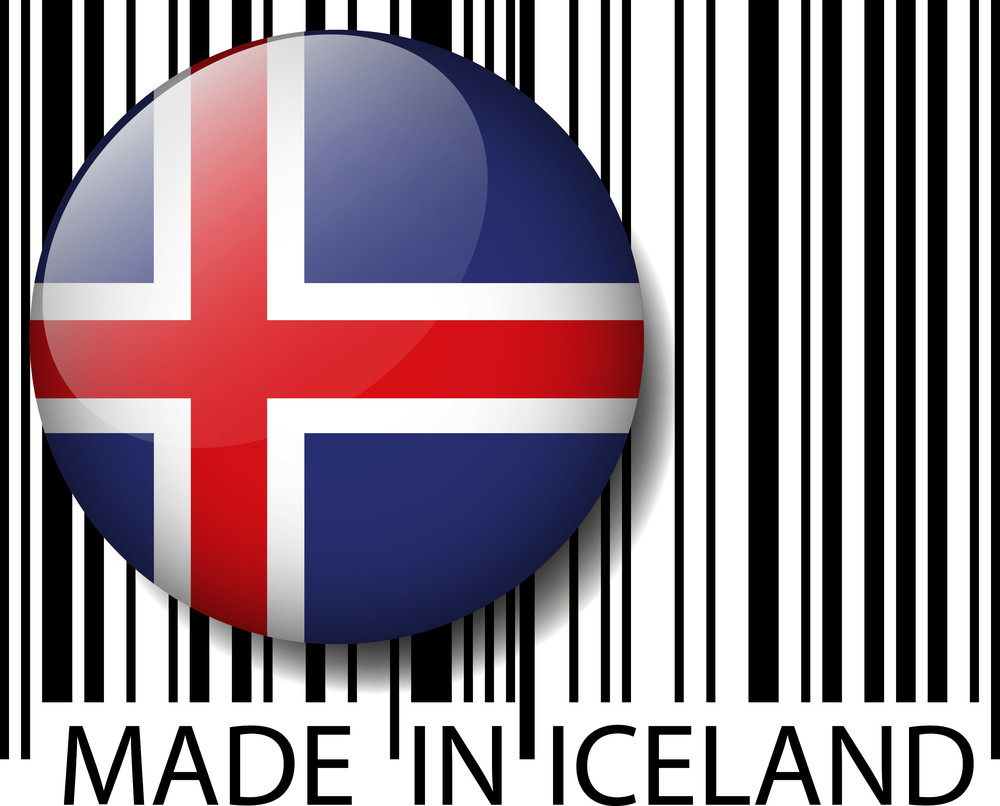 Made In Iceland Barcode. Vector Illustration