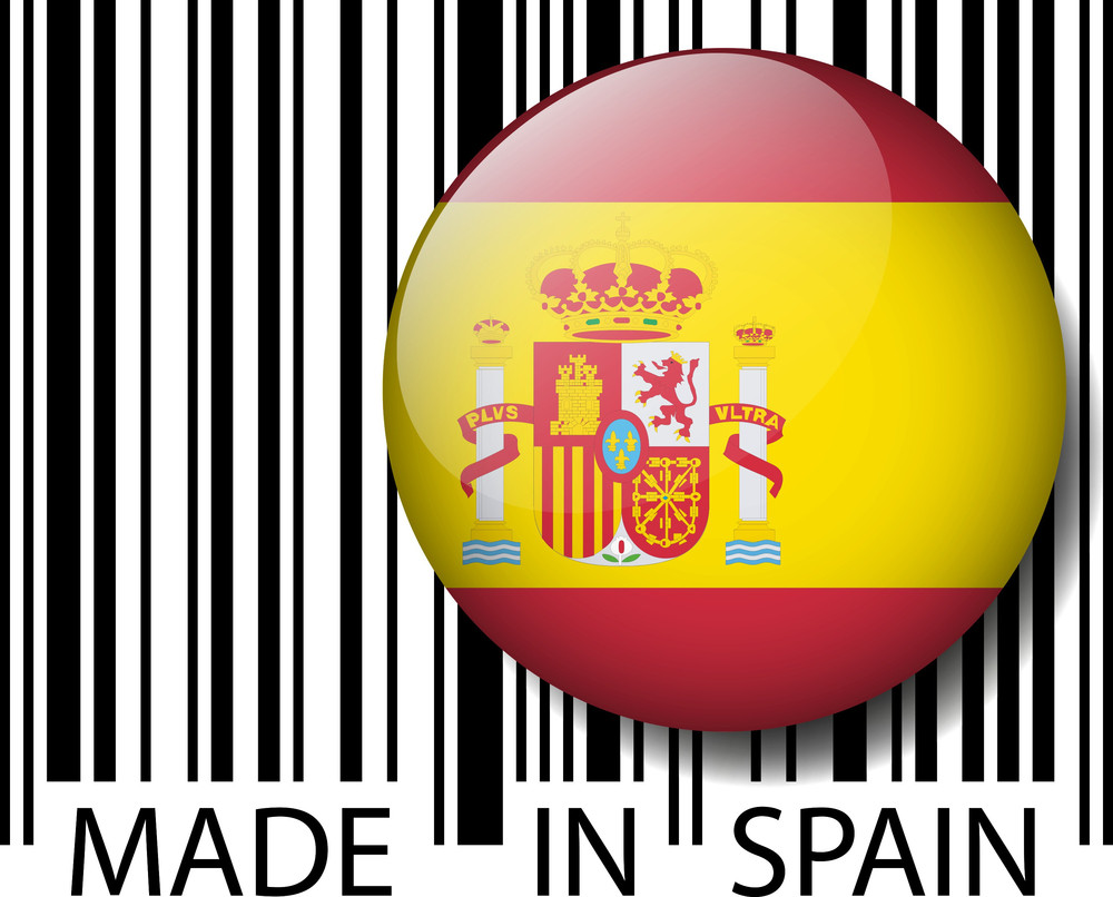 Made In Spain Barcode. Vector Illustration