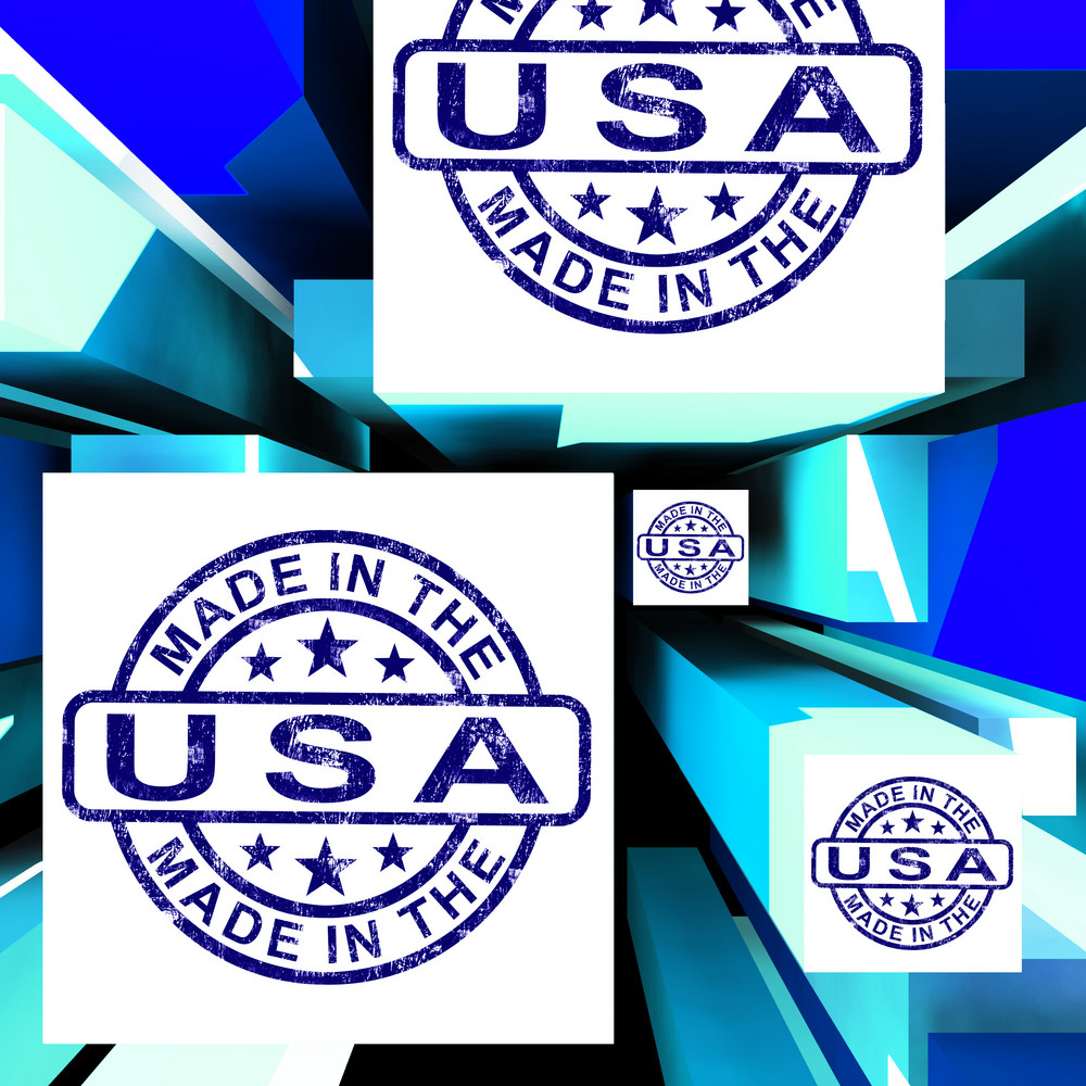 Made In The Usa On Cubes Shows American Manufacture