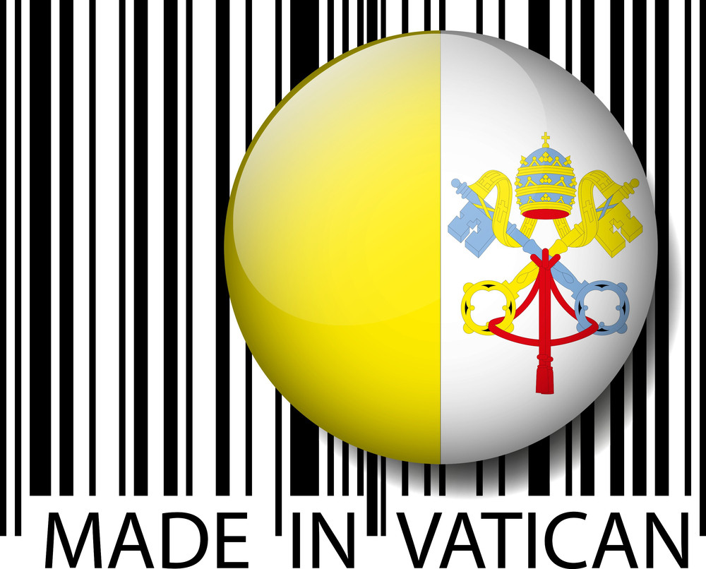 Made In Vatican Barcode. Vector Illustration