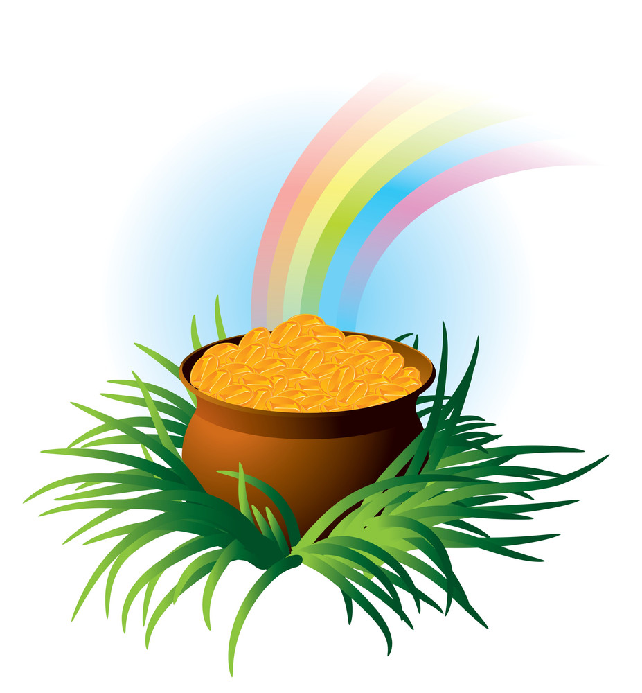 Magic Pot. Vector.