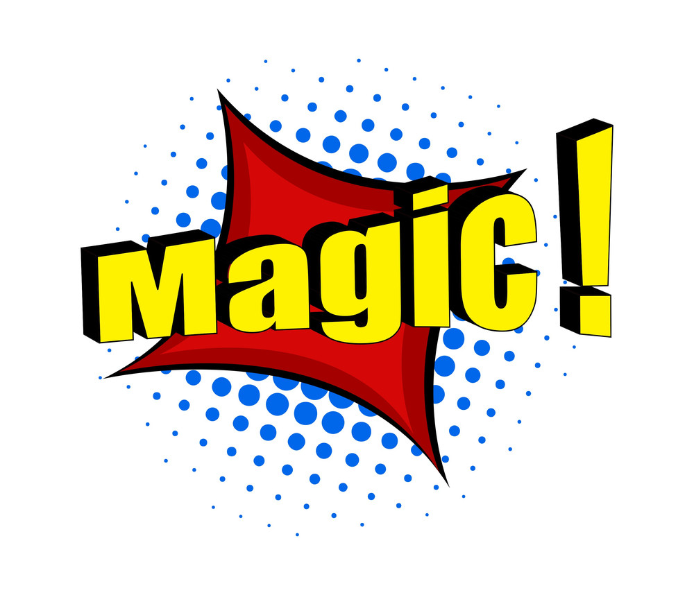 Magic Retro Text Banner