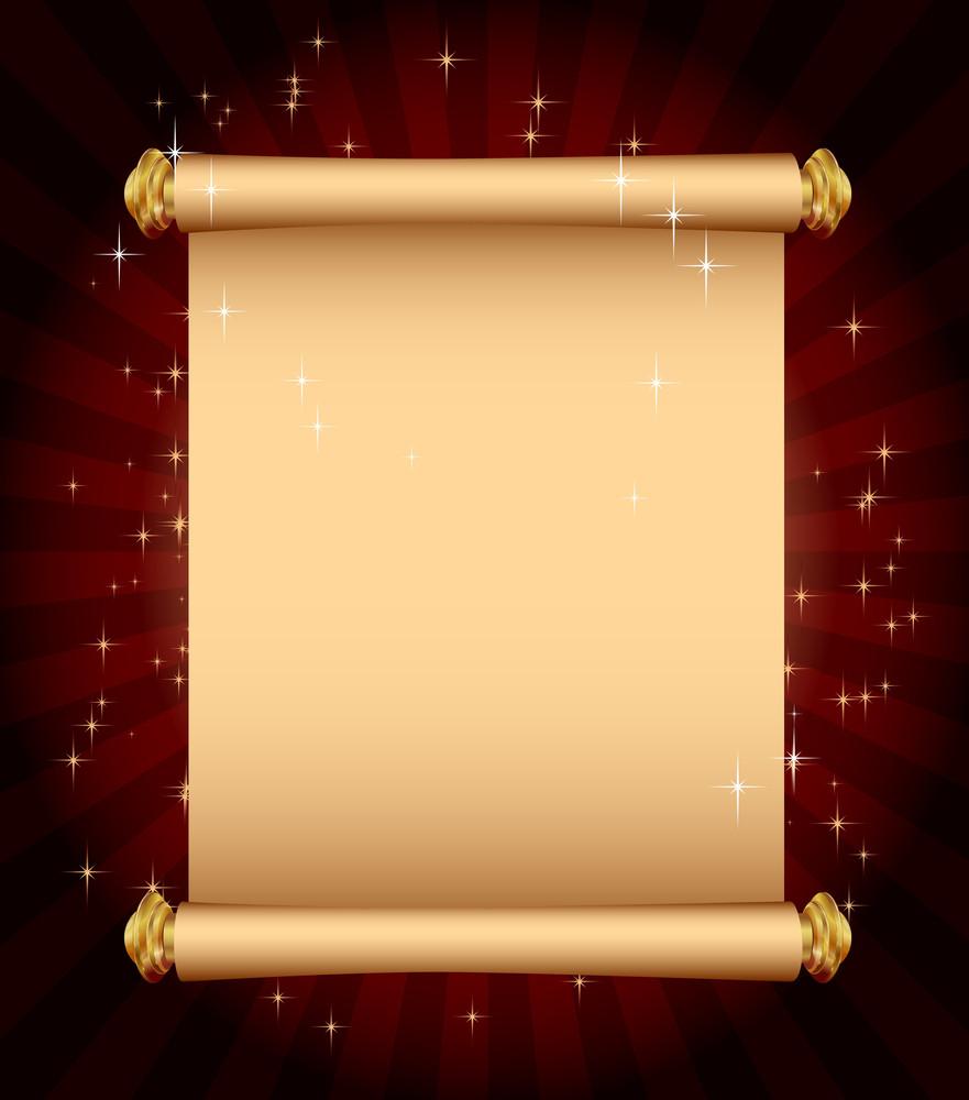 Magic Scroll. Vector Template.