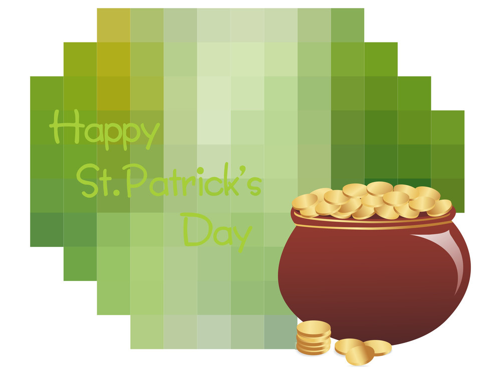 Magical Earthenware With Patrick's Day Background 17 March