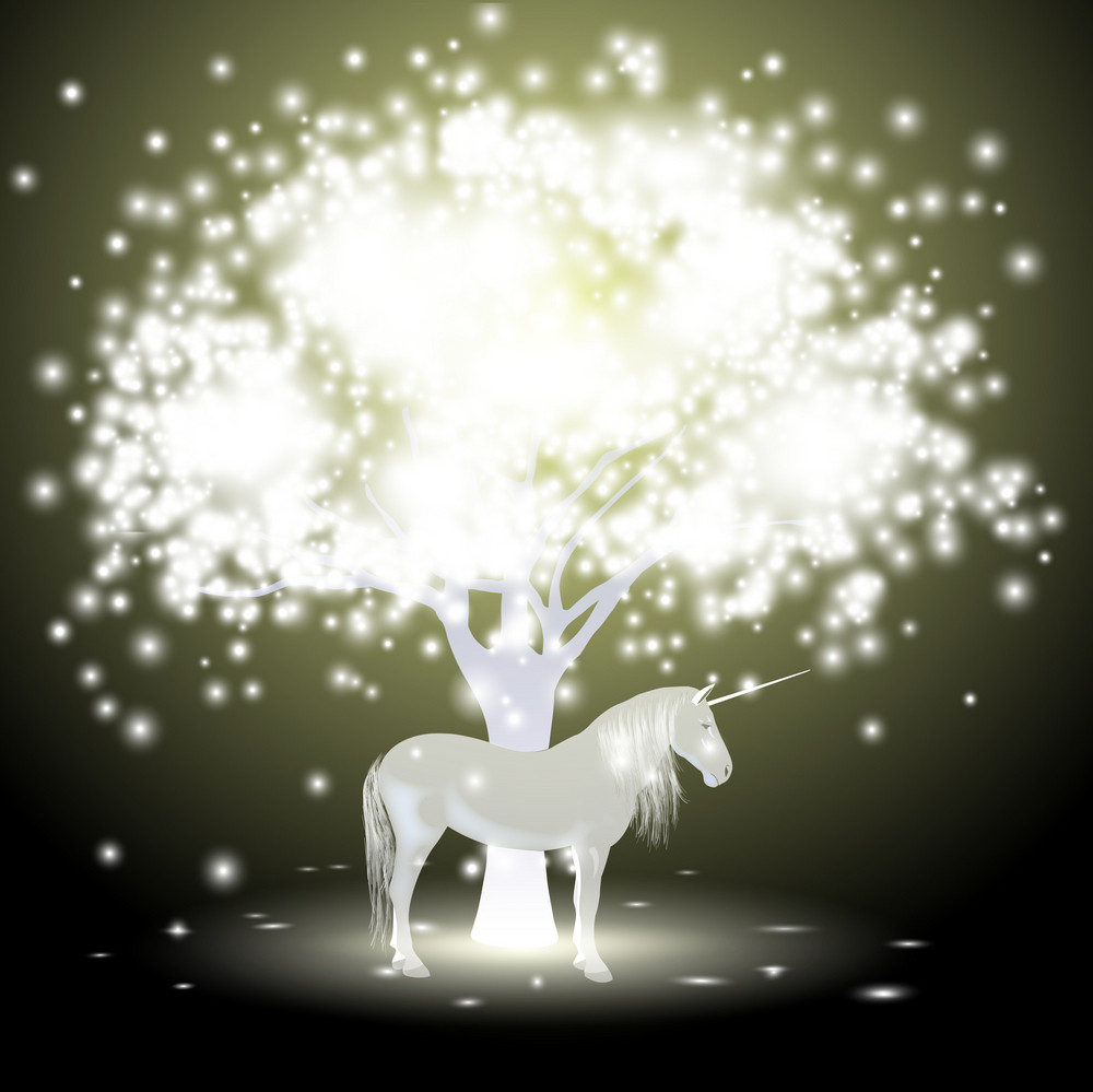Magical Tree And Unicorn