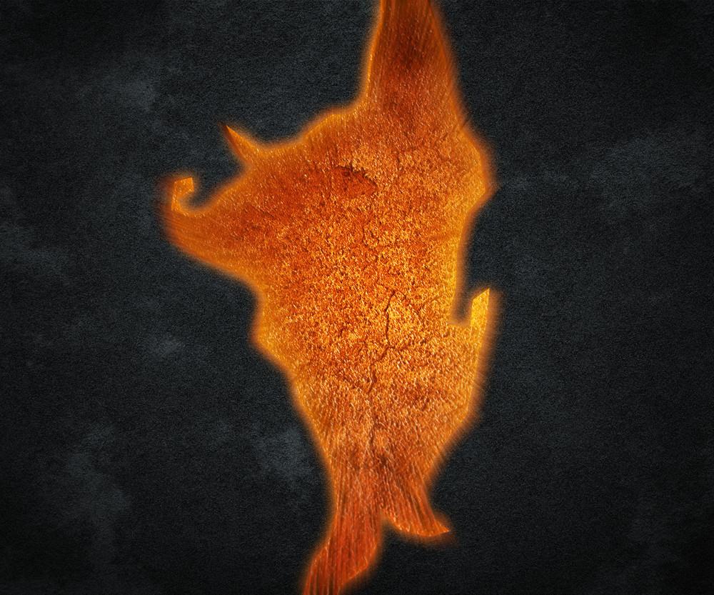 Magma Hole Background