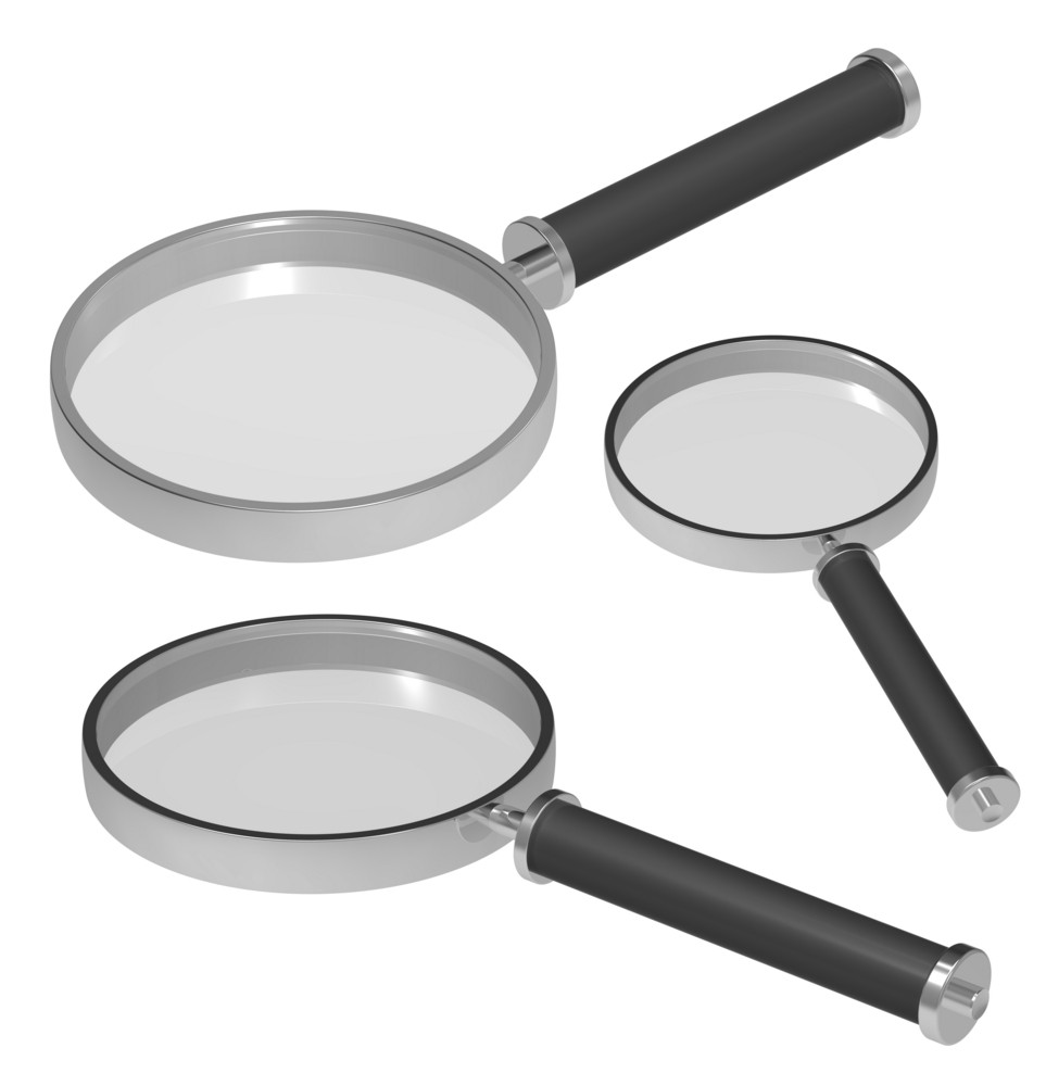 Magnifiers Set Isolated On White