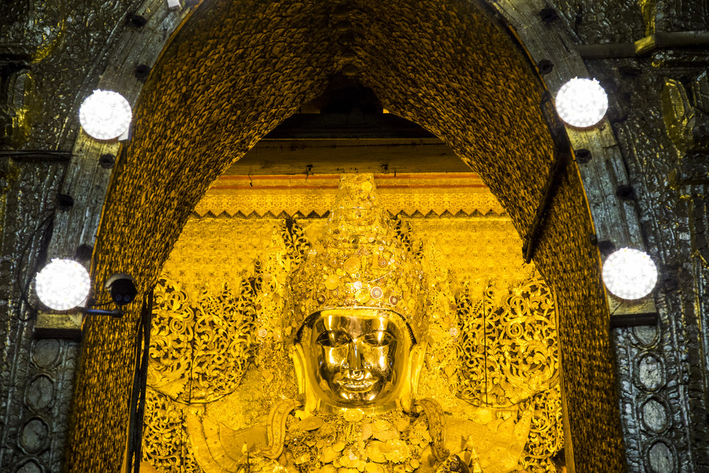 Mahamuni paya Mandalay. Myanmar or Burma