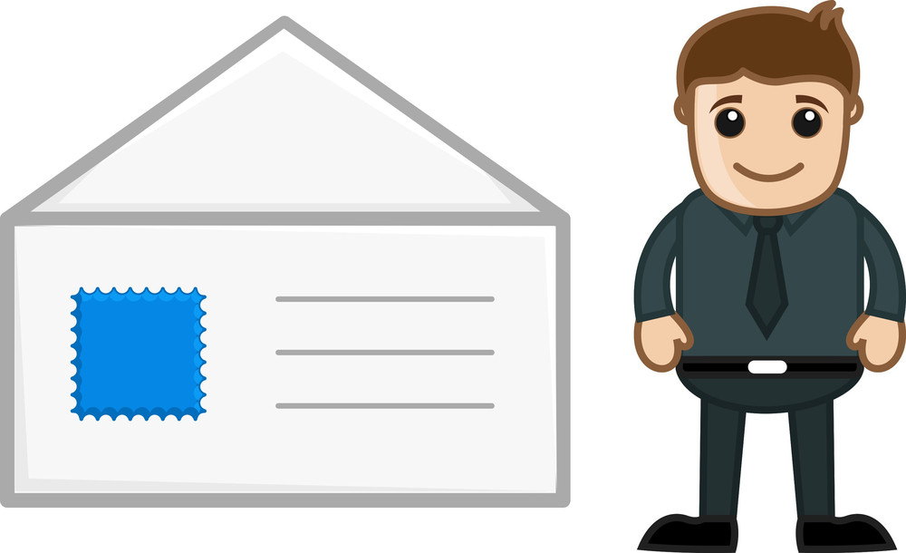 Mail Envelope - Cartoon Vector