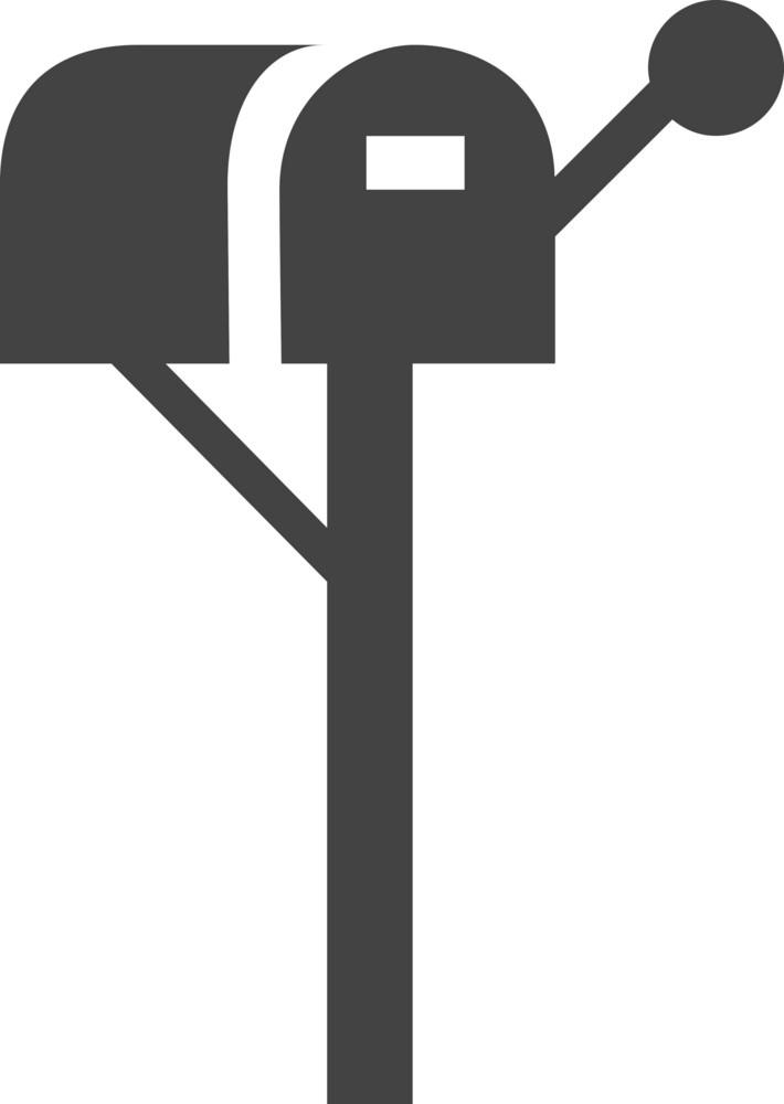Mailbox Post Glyph Icon