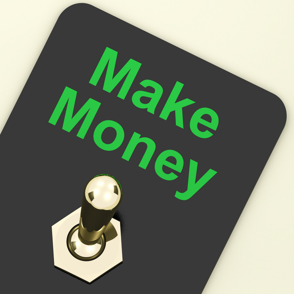 Make Money Switch Showing Startup Business And Wealth
