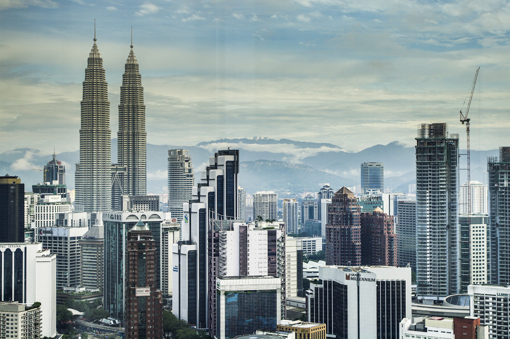 Malaysia Building Top View Royalty Free Stock Image