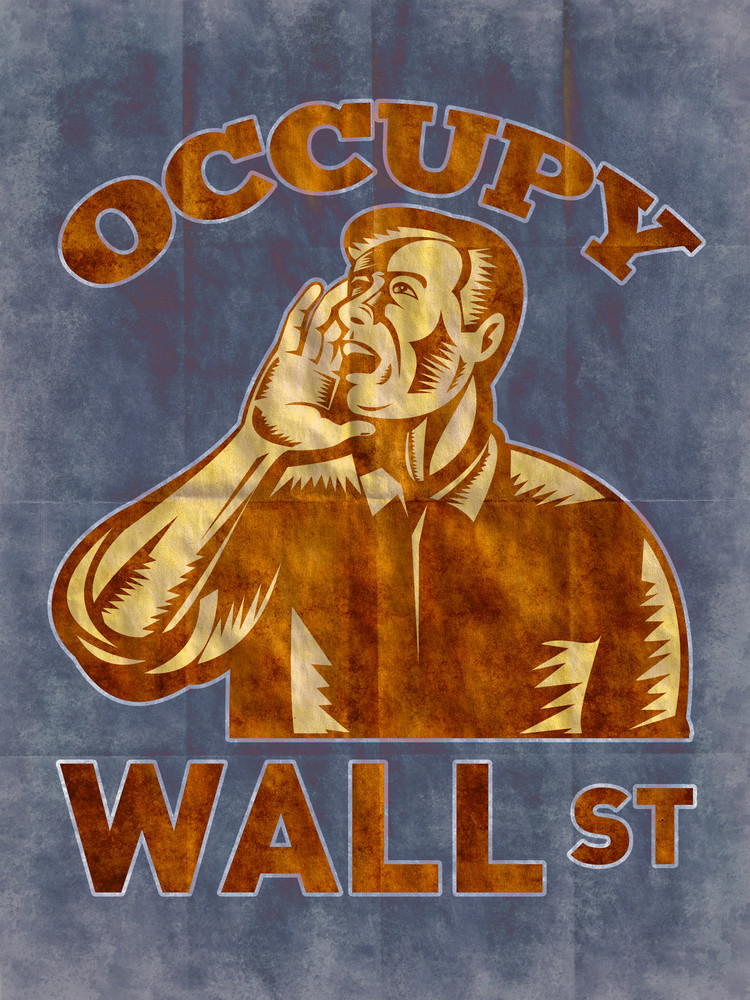Man Calling For Occupy Wall Street Support