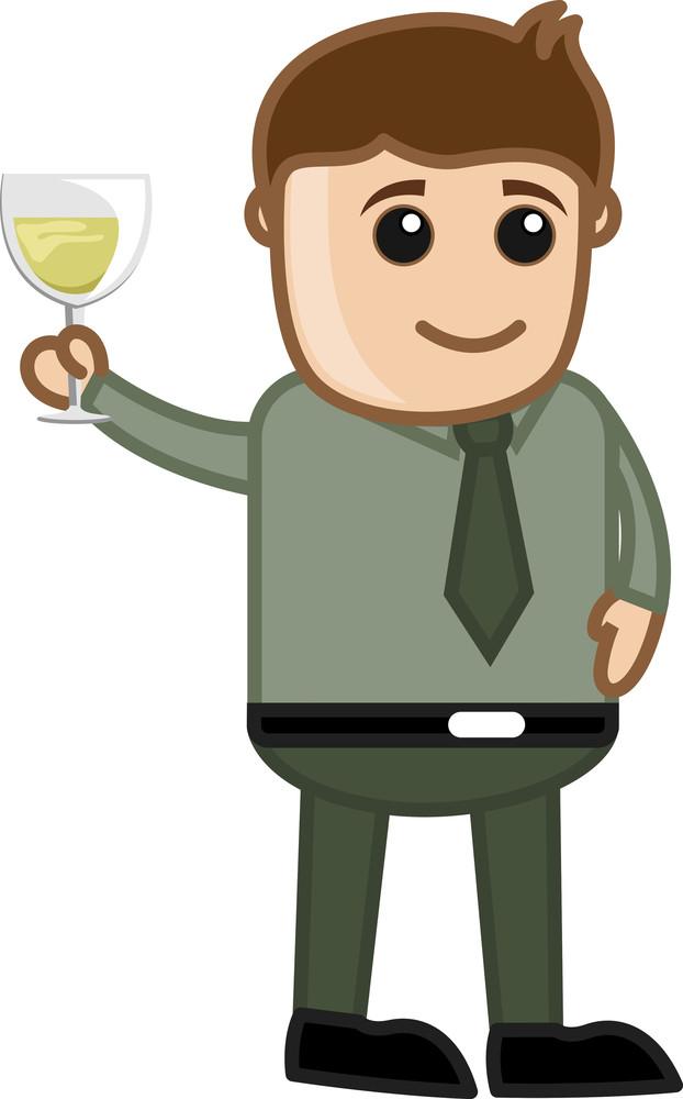 Man Having Drink