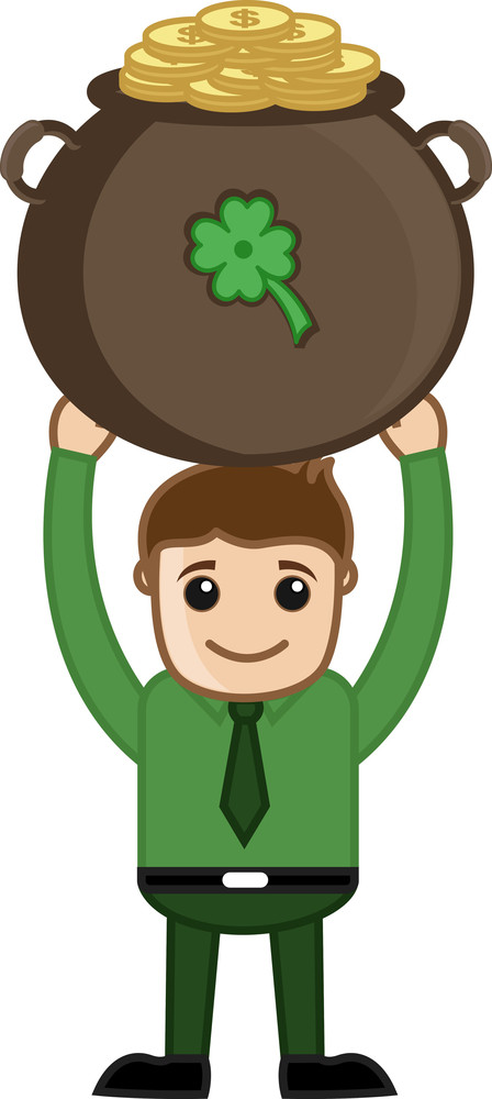Man Holding Cauldron On St. Patrick's Day