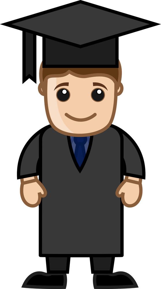 Man In Graduation Dress