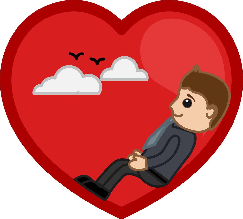 Man In Love Vector Illustration