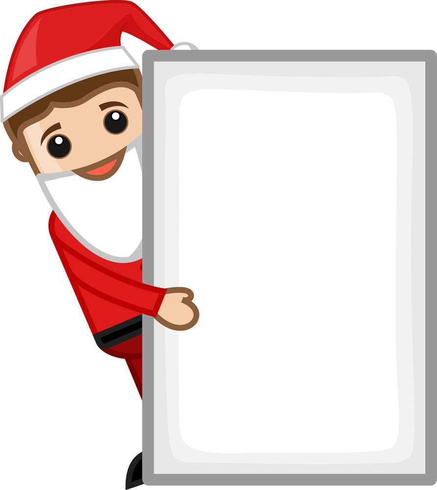 Man In Santa Costume - Business Cartoon Characters