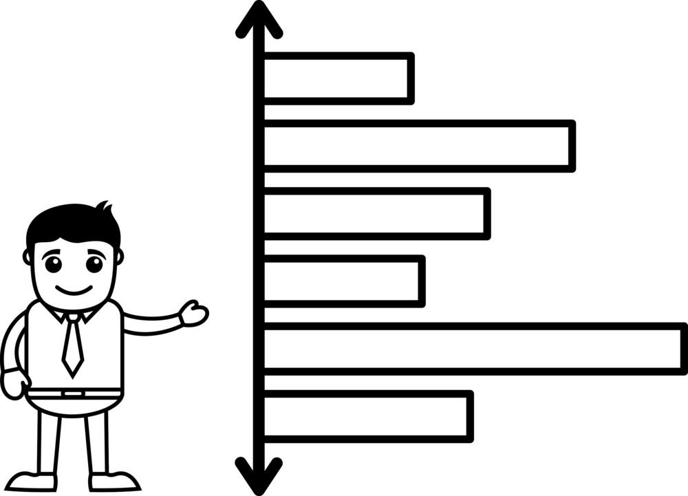 Man Presenting Stats On Graph