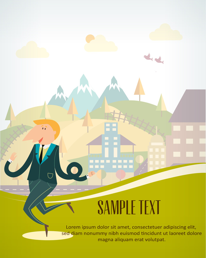 Man Ready To Travel (editable Text)