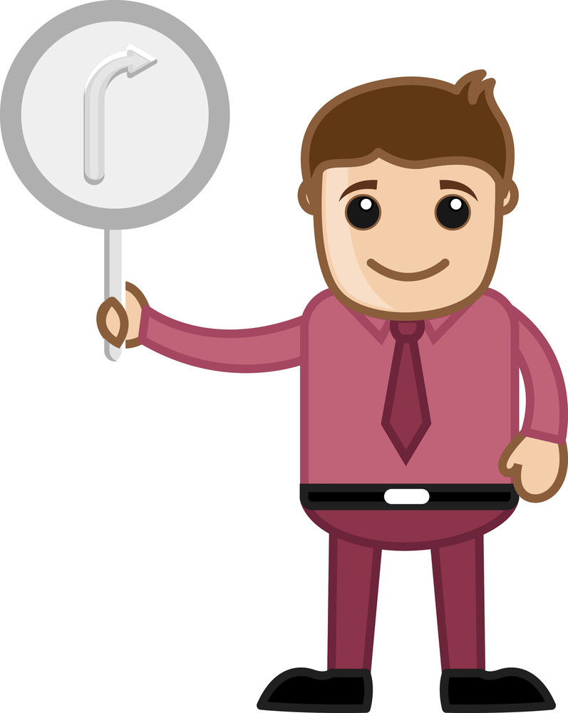 Man Showing Arrow Sign Vector
