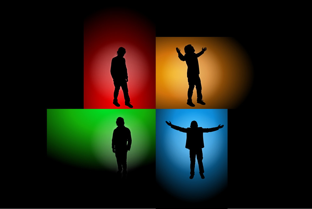 Man Silhouettes Vector Backgrounds