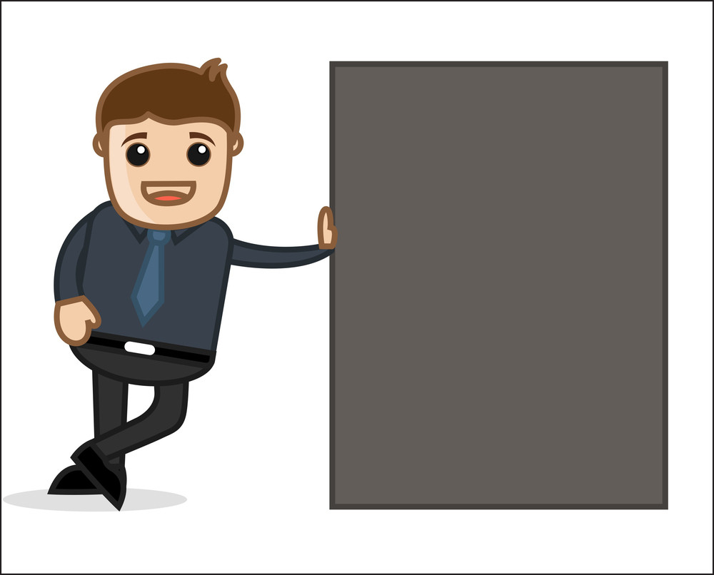 Man Standing - Office And Business People Cartoon Character Vector Illustration Concept