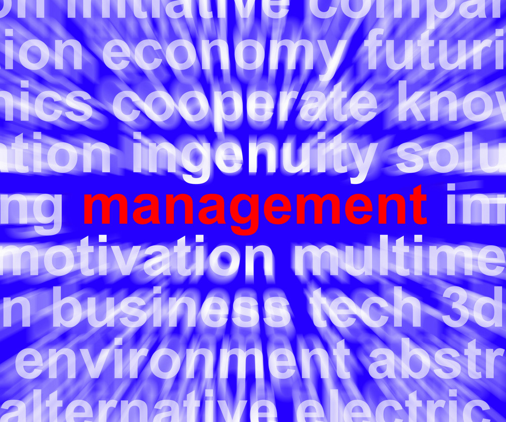 Management Word Showing Business Leadership Logistics And Organization