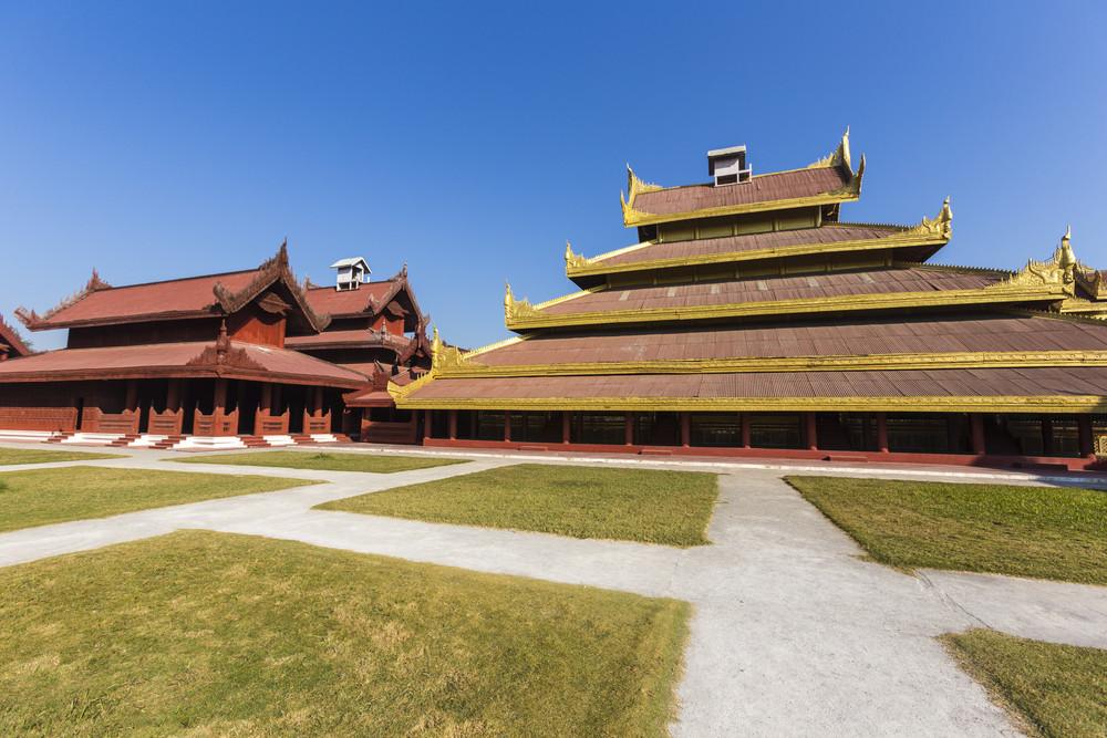 Mandalay palace. Mandalay. Myanmar or Burma