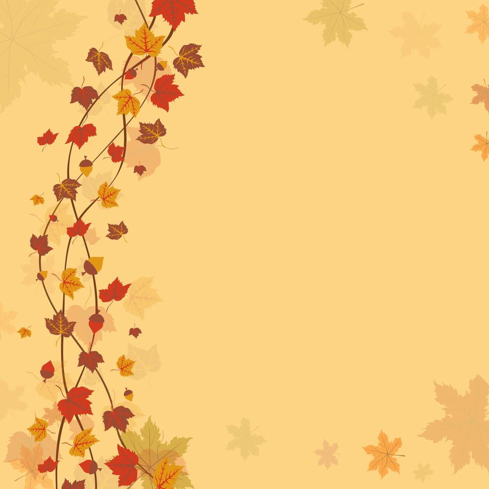 Maple Leaves On Seamless Background For Autumn Season