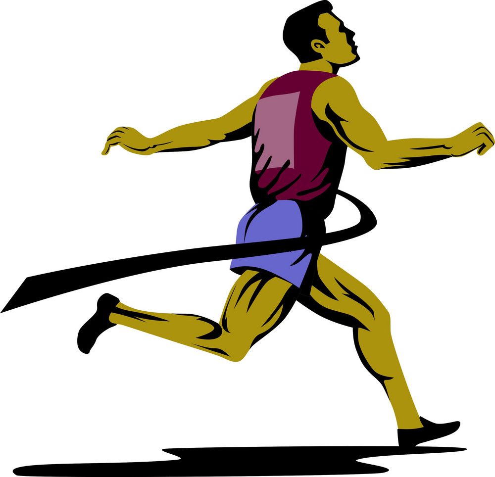 Marathon Runner Athlete Running Finish Line