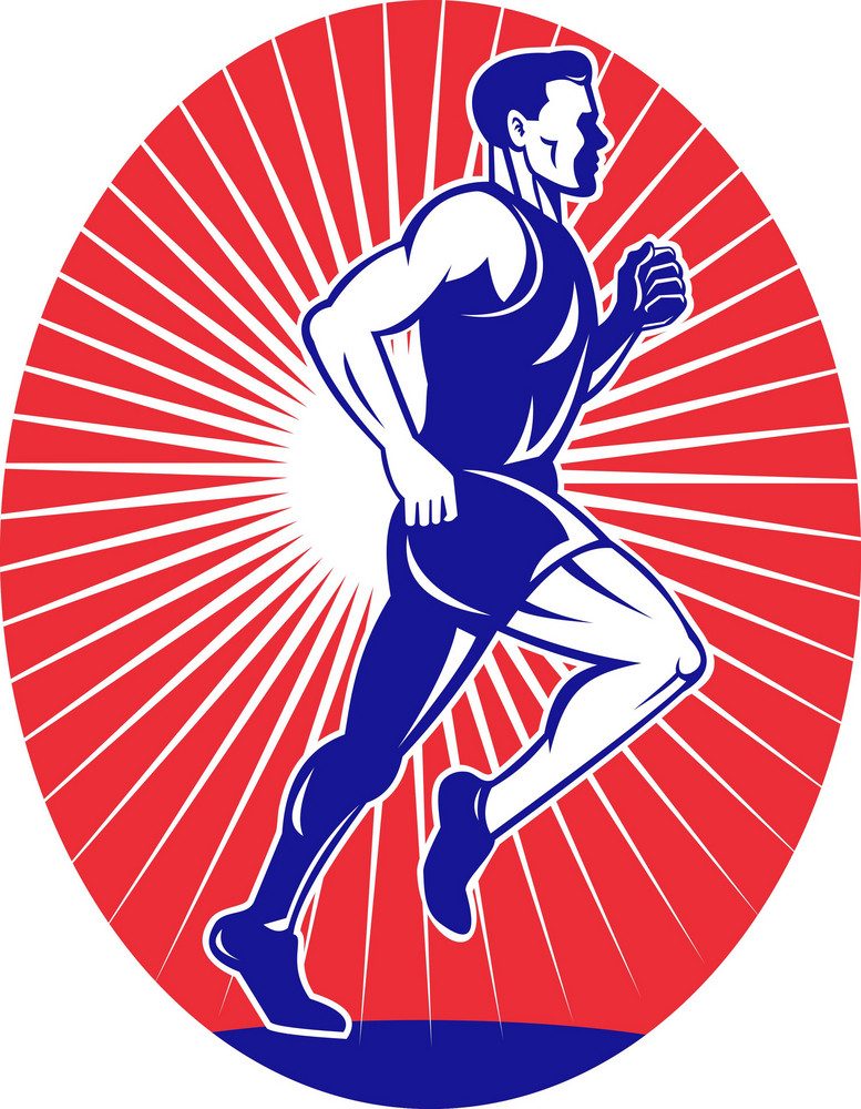 Marathon Runner Jogger Fitness Running Side