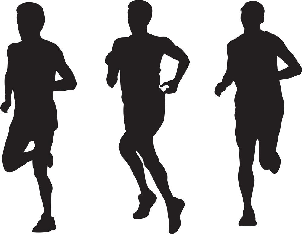 Marathon Runner Running Silhouette