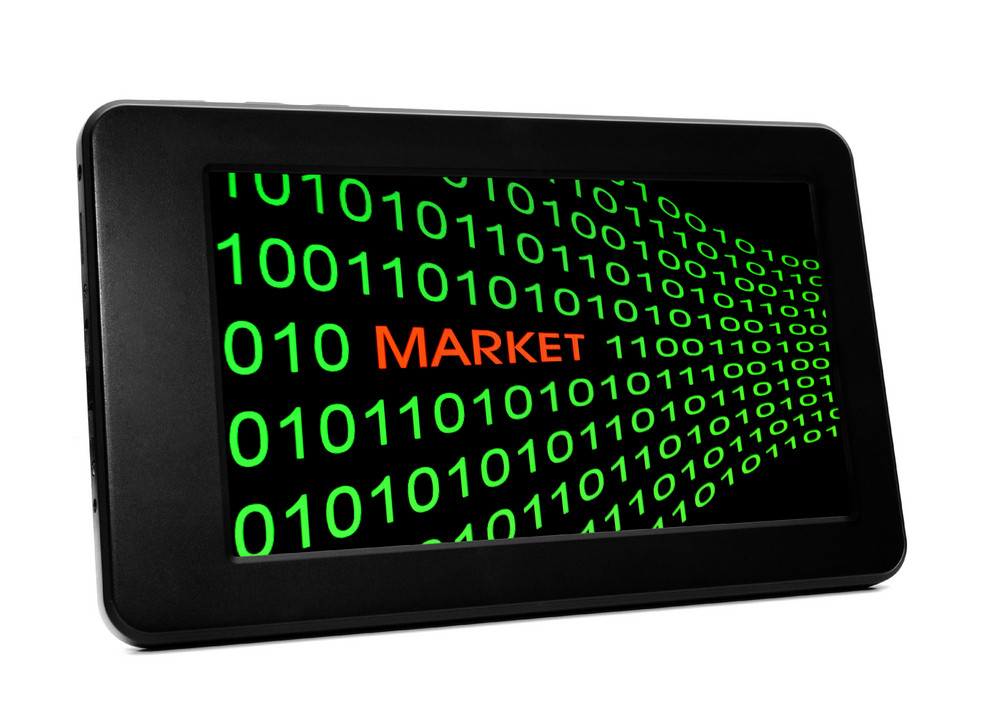 Market Concept On Pc Tablet