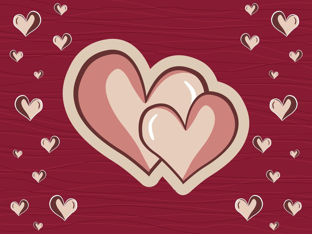 Maroon Macro Background With Heart
