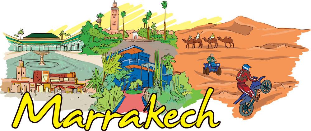 Marrakech Vector Doodle