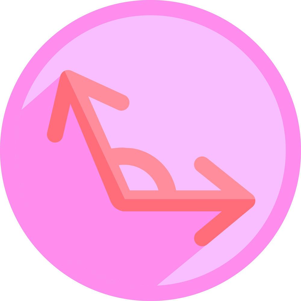 Mathematic Angle Icon