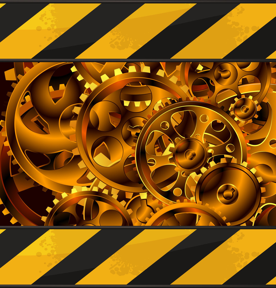 Mechanic Abstract Vector Background.