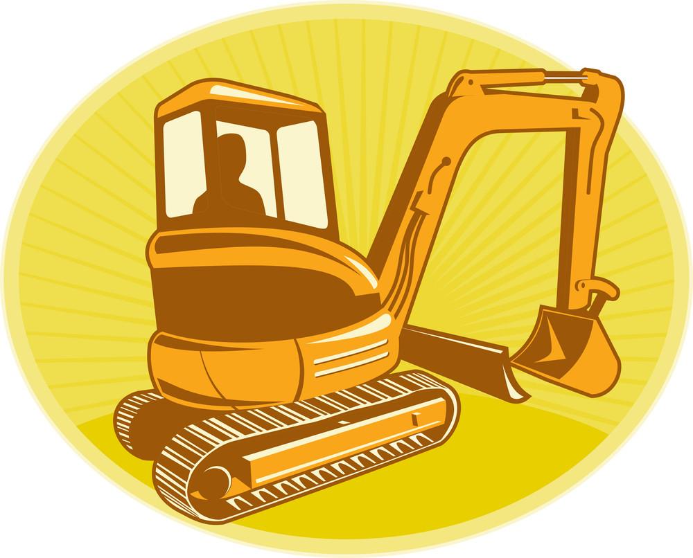 Mechanical Digger Excavator Retro