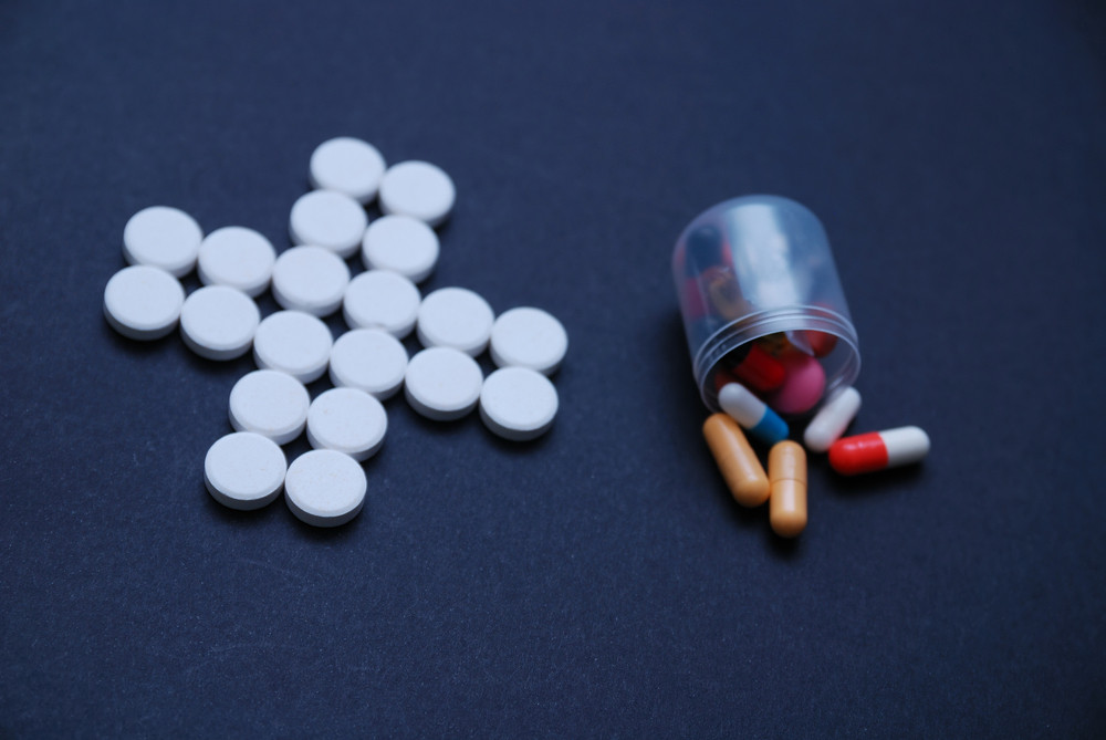 Pharmacy concept with pills