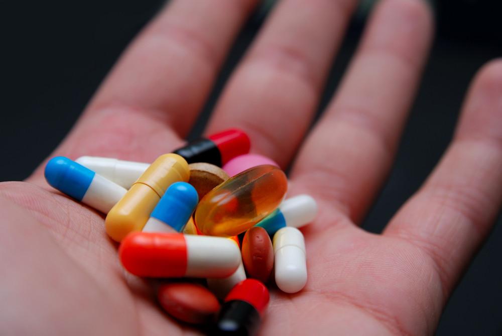 Pills in hand