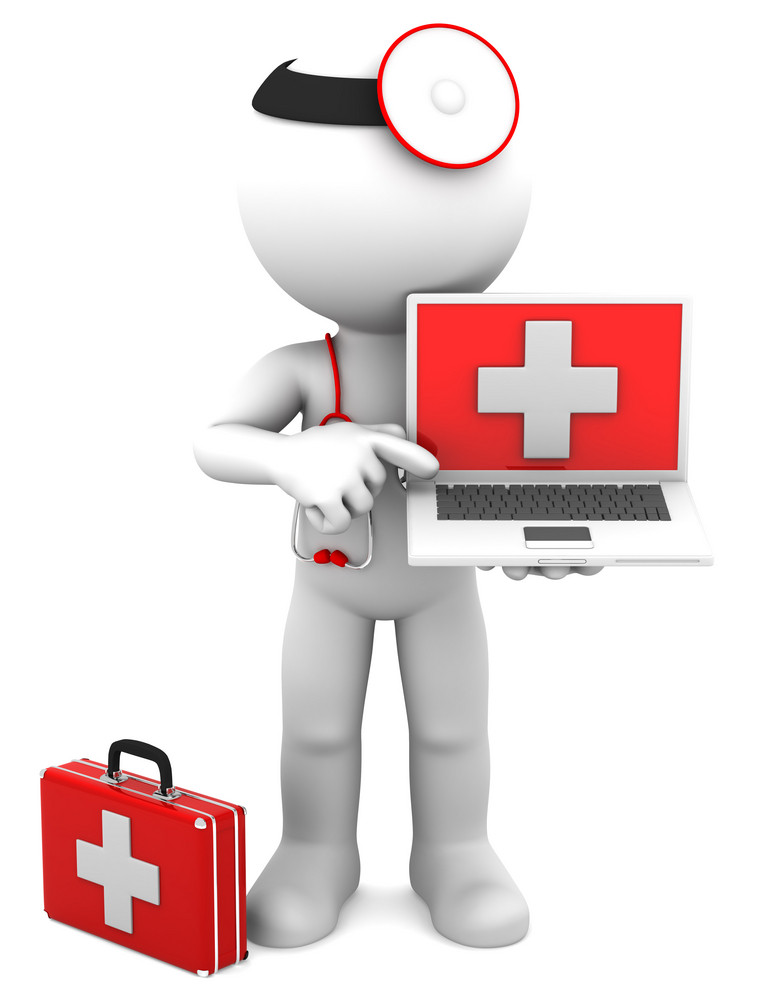 Medic With Laptop