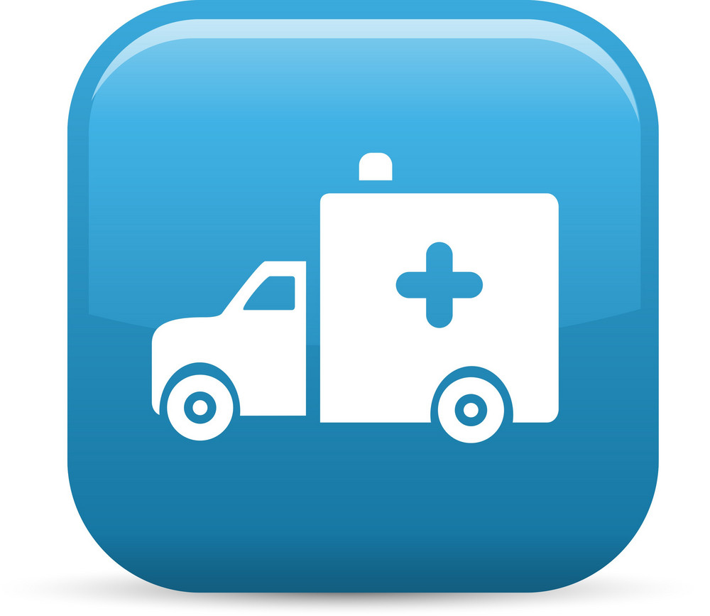 Medical Ambulance Elements Glossy Icon