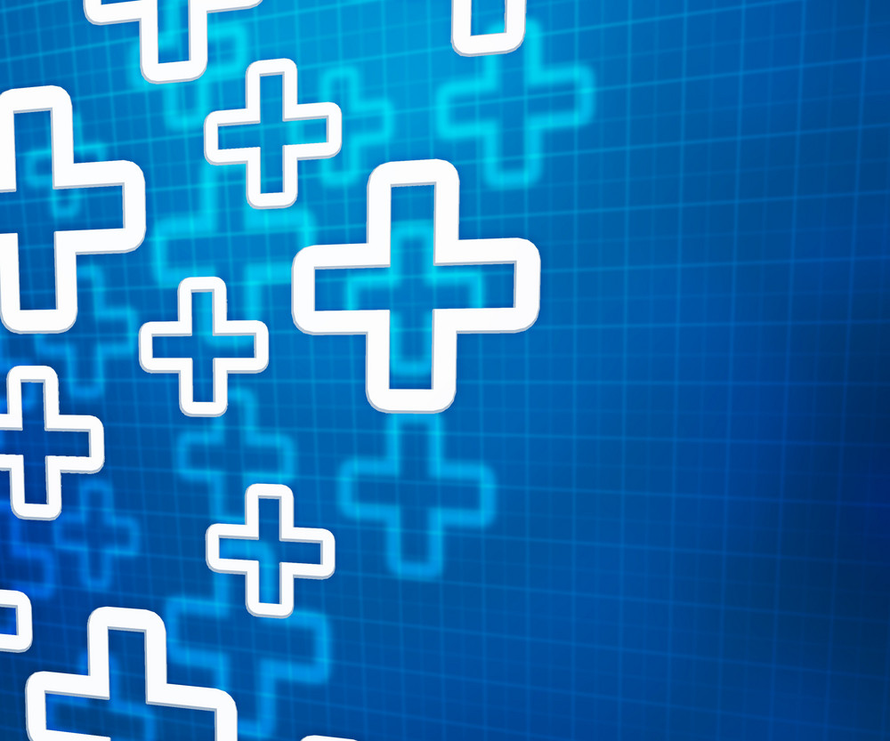 Medical Cross Blue Background