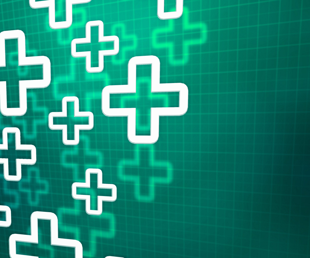 Medical Cross Green Background