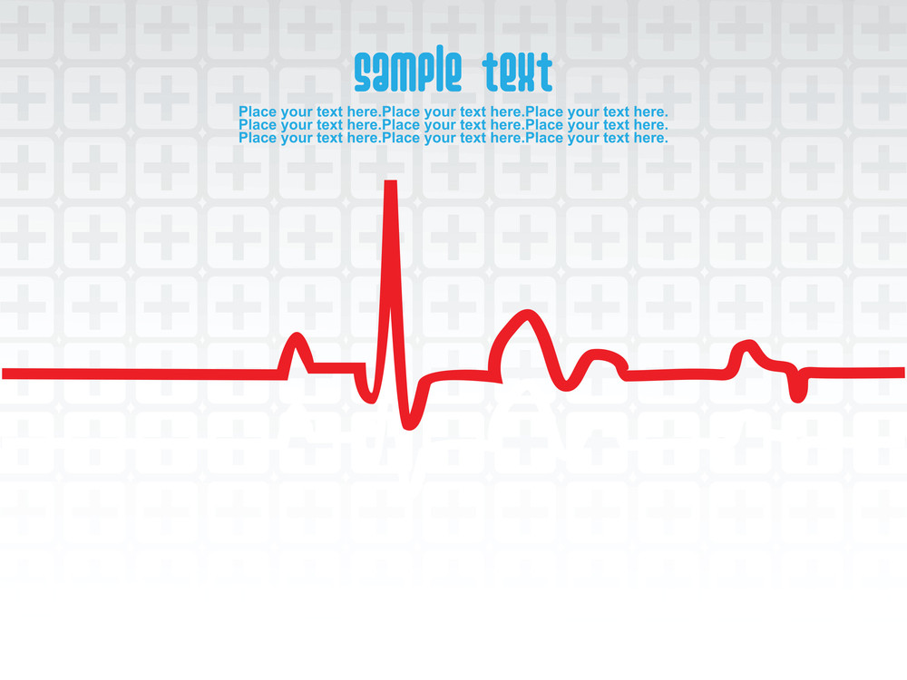 Medical Heart Beat Theme Background